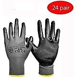 LIUXIN プラスチック手袋/丁ハオは、手のひらの労働保護手袋/メンテナンス整備士オイルプルーフ滑り止め手袋/サイトハンドリング着用手袋/ -24を塗装 ゴム手袋 (サイズ さいず : Xl xl)
