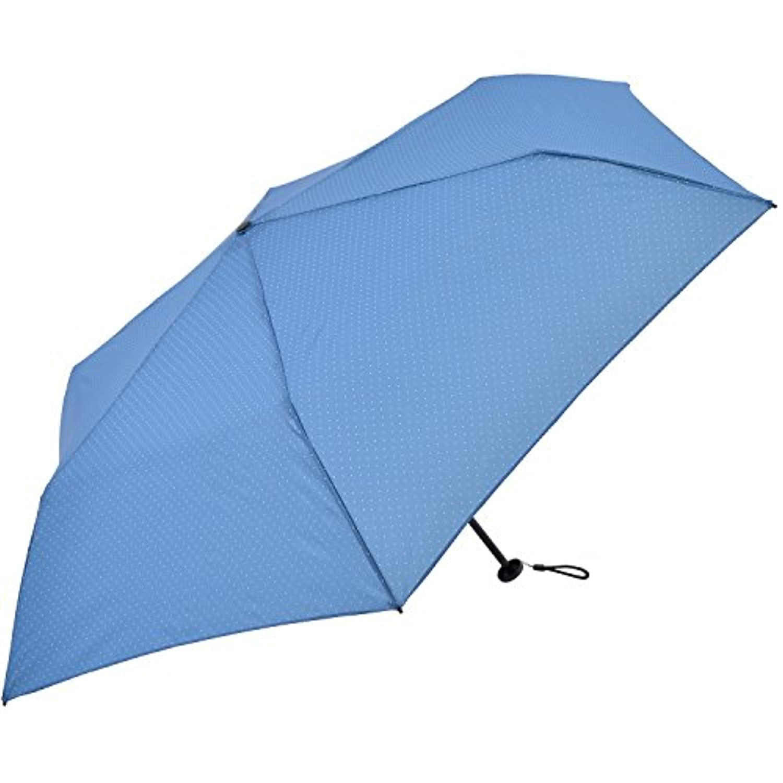 Nifty Colors 折りたたみ傘 スマートライト ドット ブルー 6本骨 50cm