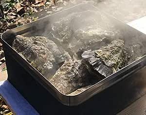 牡蠣 かんかん焼き セット 広島県産殻付き 総量約3kg 大粒LLサイズ 20~23個入 冷凍 ( 軍手 ナイフ 調理説明書付 ) 海鮮 バーベキュー セット BBQ ガンガン焼き (通常商品)