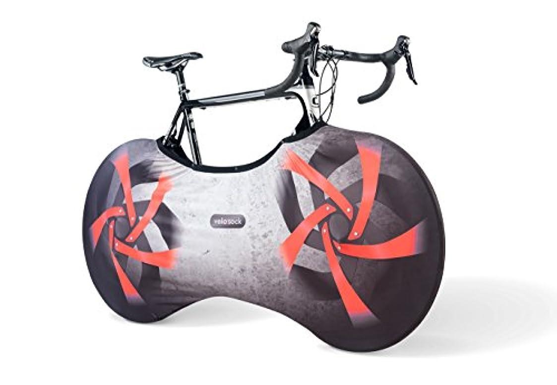 換気ロール同等のVELOSOCK 自転車カバー 屋内収納用 Firebird PROエディション 便利なスナップファスナー付き 床や壁を汚れから守る 99%の大人用自転車に対応