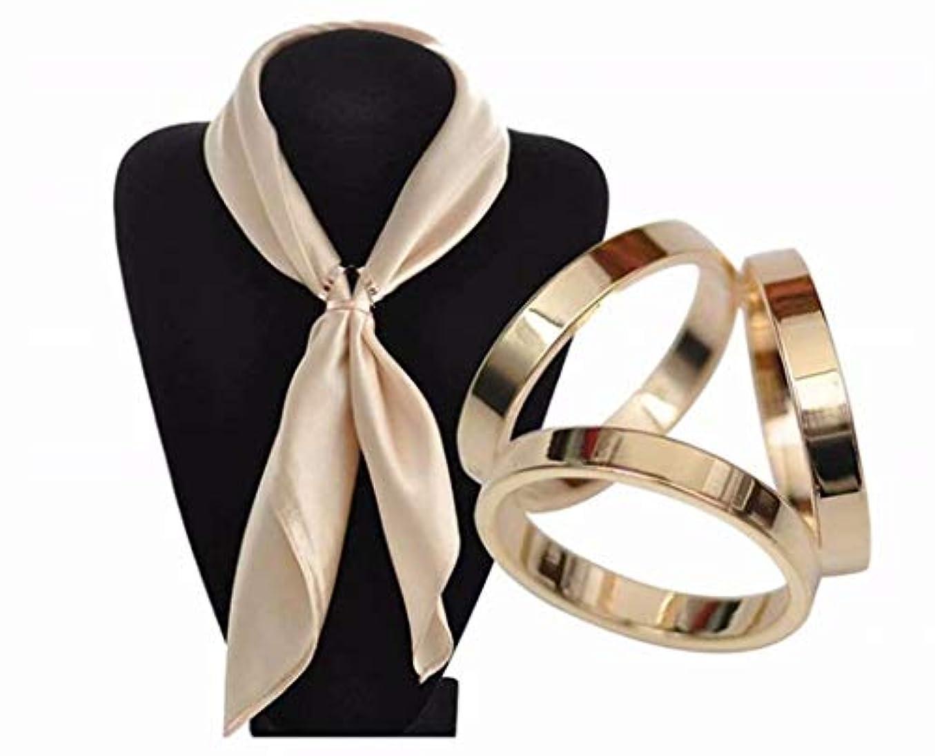 フリンジノベルティ母性七里の香 レディース スカーフリング 絹のスカーフ バックル クリップ