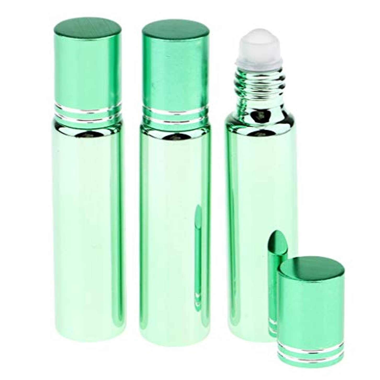 雪の成長する蓮SM SunniMix 空 ローラーボトル リップグロスボトル 香水容器 エッセンシャルオイル 香水瓶 ロールオン 化粧道具 全5色 - 緑