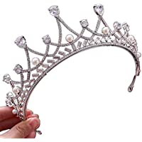 Tiara Silver Rhinestone Bridal Crown Headdress Wedding Photo Studio Wedding Show Jewelry