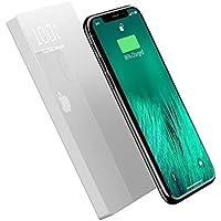 モバイルバッテリー ワイヤレス充電 大容量 iphone Galaxy Xperia 20000mAh Qi ガラス画面 急速充電 実効容量 無線充電器 携帯充電器 モバイル バッテリー 置くだけ充電 持ち運び 無線と有線両用 3台同時充電 iPad Pro / iPhone X / XS MAX / XS / XR / iPhone8 / 8Plus / Galaxy Note9 / S9 / S9+ / S8 / S8 Plus / S7 edge / Sony Xperia XZ3 / XZ2 Premium 各種他QI対応 出張 地震防災 白
