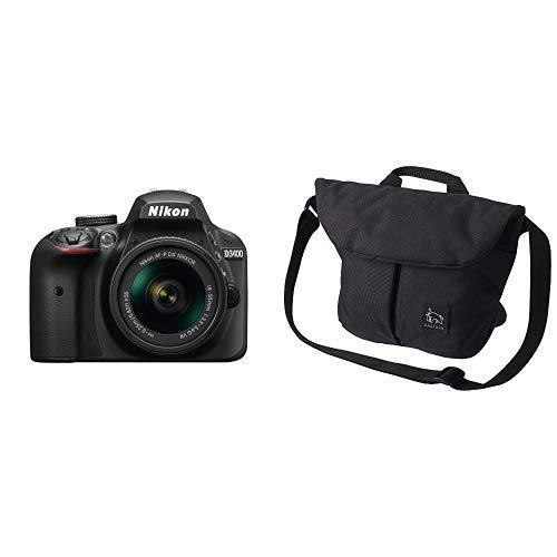 Nikon デジタル一眼レフカメラ D3400 AF-P 18-55 VR レンズキット ブラック D3400LKBK + HAKUBA カメラバッグ Chululu(チュルル) ホリデイ ショルダーバッグ M 6L ブラック SCH-HDSBMBK