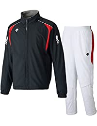デサント(DESCENTE) ウインドジャケット&パンツ 上下セット(ブラック/ホワイト) DRN-3710-BLK-DRN-3710P-WHT