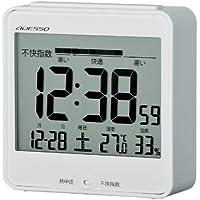 ADESSO(アデッソ) 目覚まし時計 電波 デジタル 熱中症予防 温度 湿度表示 ホワイト C-8386