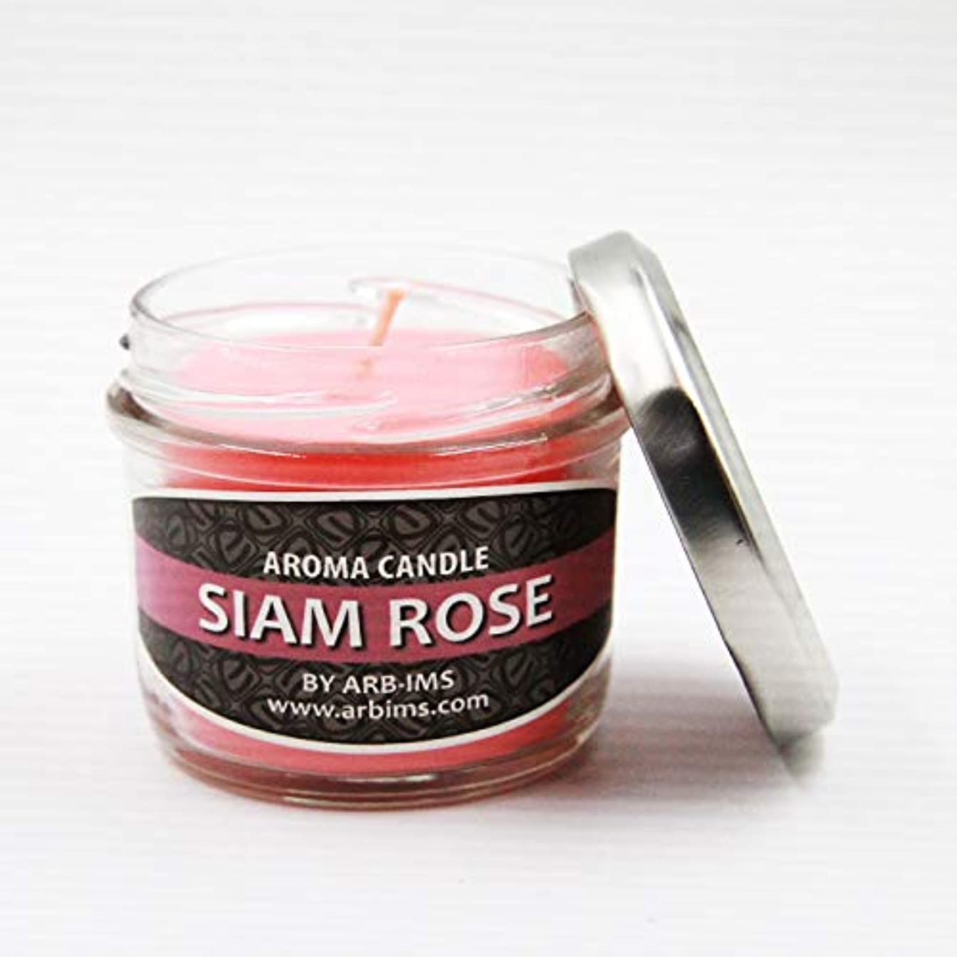 ARB-IMS アジアン エスニック アロマキャンドル 香り9種類 オーガニック 天然素材 (サイアムローズ)
