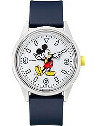 [キューアンドキュー スマイルソーラー]Q&Q SmileSolar 腕時計 リンクコーデ ディズニーコレクション サイズL 10気圧防水 ウレタンベルト 【ミッキー】 RP20-809 メンズ