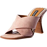 Jaggar Crossed Suede Heel, Womens Shoes, Pink (Blush), Women