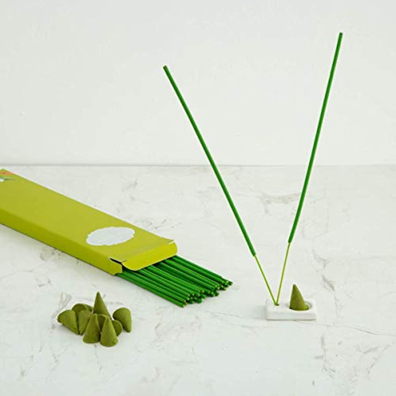 素敵な効能定義するHome Centre Redolance Chirping Woods Incense Sticks and Cones - Green