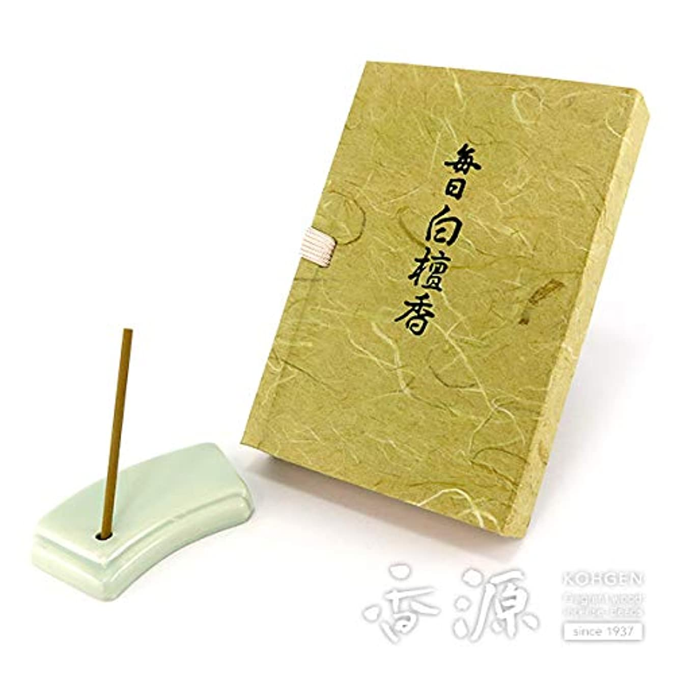 スラム街上に緊張日本香堂のお香 毎日白檀香 スティックミニ寸文庫型60本入り
