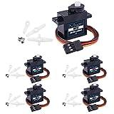 Miuzei サーボモーター マイクロサーボ 9g 5個セット デジタル・サーボ(ロボット、小型ヘリコプター、RCカー等、R/Cのおもちゃ arduino ラズベリーパイ (5個セット)