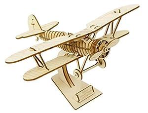 木製パズル kigumi (キグミ) 複葉機
