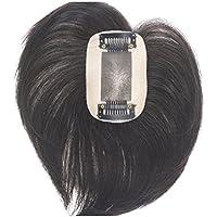 HIYE ウィッグ 付け毛 医療用ウィッグ ヘアピース 通気 ウイッグ 総手植えモノスキン 脱毛隠し 軽薄 白髪隠れ 人毛で制作 横5cm×縦8cm 15cm 2色