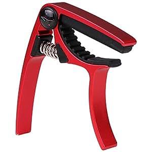(ストリング ハウス)String House CUC03 ウクレレカポ カポタスト クロム合金 お手入れ用 安全シンプルで使いやすい レッド ・赤(パウチ付き)