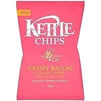 チップカリカリベーコン&メープルシロップ150グラム (Kettle) (x 4) - Kettle Chips Crispy Bacon & Maple Syrup 150g (Pack of 4)