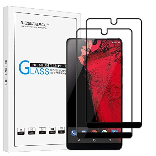 【2枚セット】Newzerol for new Essential phone ph-1 専用 強化ガラスフィルム 新型【5.7インチ用・全面・0.3mm・2.5D・透過率99%・硬度9H・気泡防止】液晶保護フィルム (ブラック)