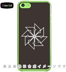 Coverfull 家紋シリーズ 陰四つ目車 (かげよつめぐるま) / for iPhone 5c/SoftBank SAPI5C-PCCL-203-ACP7