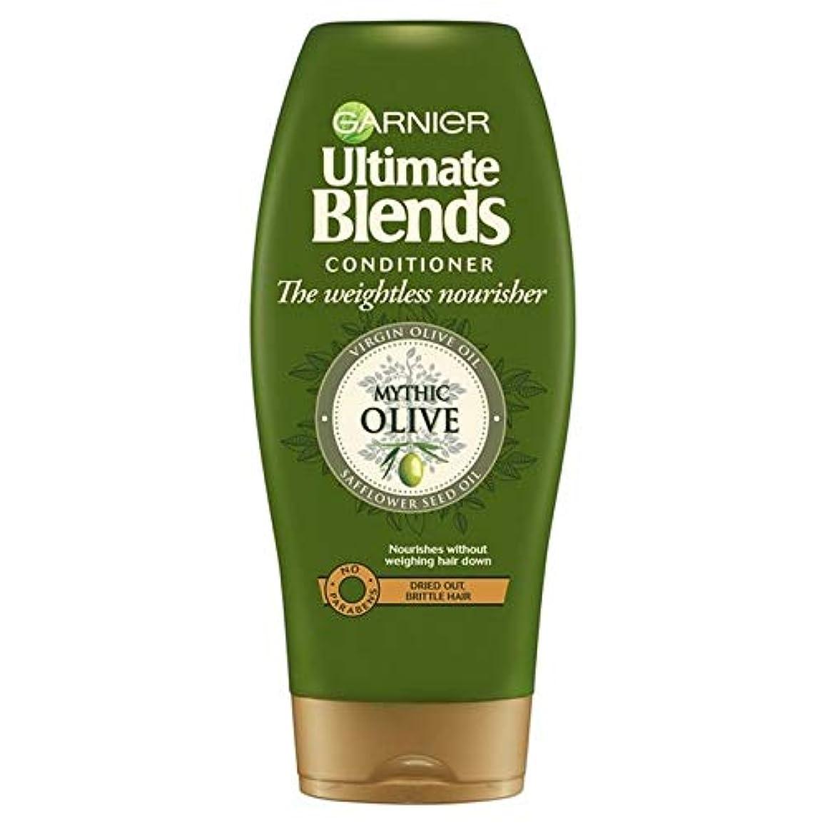 落ちた顕微鏡ステーキ[Garnier ] ガルニエ究極のオリーブオイルドライヘアコンディショナー360ミリリットルをブレンド - Garnier Ultimate Blends Olive Oil Dry Hair Conditioner...