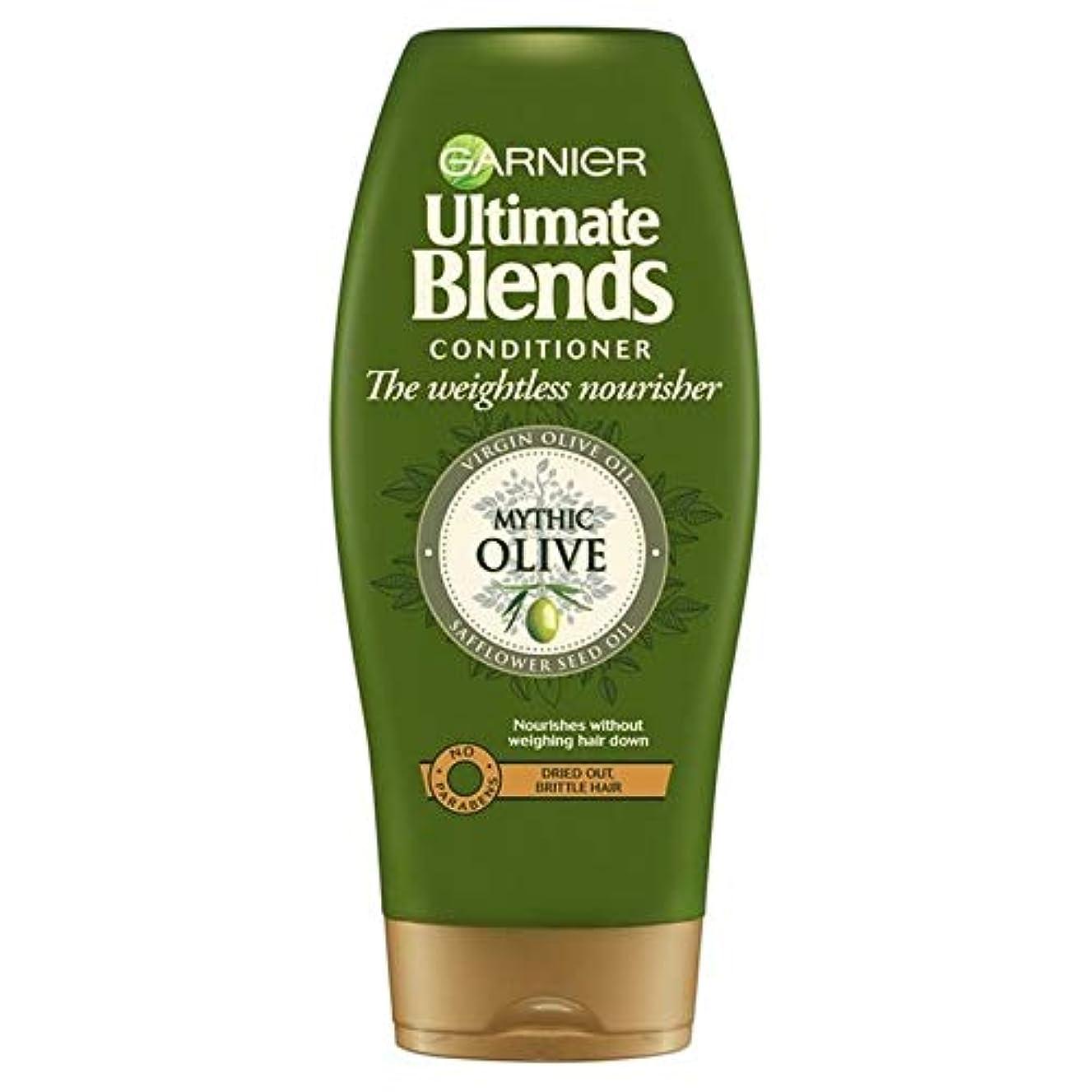 金銭的四面体バックグラウンド[Garnier ] ガルニエ究極のオリーブオイルドライヘアコンディショナー360ミリリットルをブレンド - Garnier Ultimate Blends Olive Oil Dry Hair Conditioner...