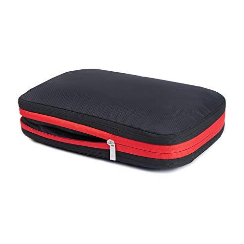 便利旅行圧縮バッグ 圧縮トラベルポーチ トラベル圧縮バッグ 便利グッズ ファスナー圧縮で衣類スペース50%節約 衣類仕分け