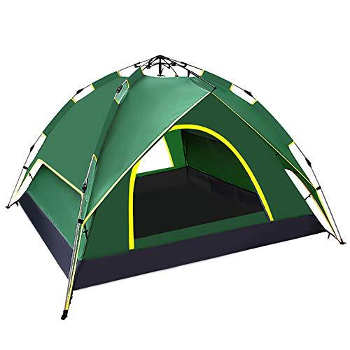 テント ワンタッチテント 5-6人用 ダブルサイズ 家庭テント サンシェードテント キャンプテント 二重層 数秒設営 通気性 折りたたみ 持ち運びやすい 広い空間 キャンプ 登山 運動会 花見用 キャンプ用品 専用収納袋付き (テント 5-6人用)