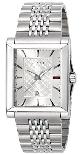 [グッチ]GUCCI 腕時計 レクタングル シルバー文字盤 デイト YA138403 メンズ 【並行輸入品】