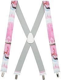 Suspender Store メンズ フラミングサスペンダー