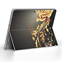 Surface go 専用スキンシール サーフェス go ノートブック ノートパソコン カバー ケース フィルム ステッカー アクセサリー 保護 フラワー 花 フラワー 005941