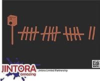 JINTORA ステッカー/カーステッカー - rat look - ラットの表情 - 165x99 mm - JDM/Die cut - 車/ウィンドウ/ラップトップ/ウィンドウ - 茶色