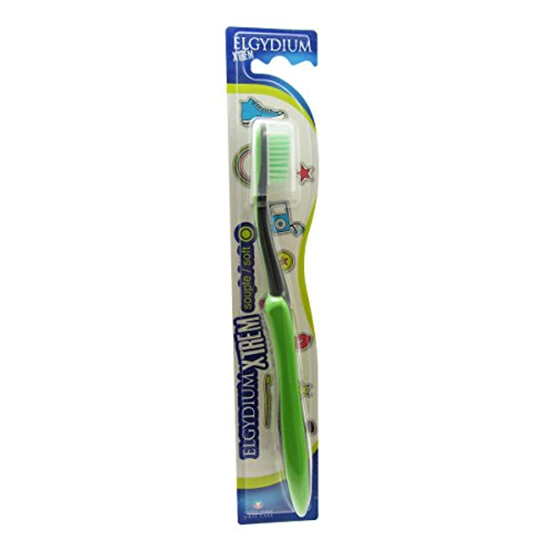 一貫した良心的敬意Elgydium Xtrem Toothbrush Soft Hardness [並行輸入品]