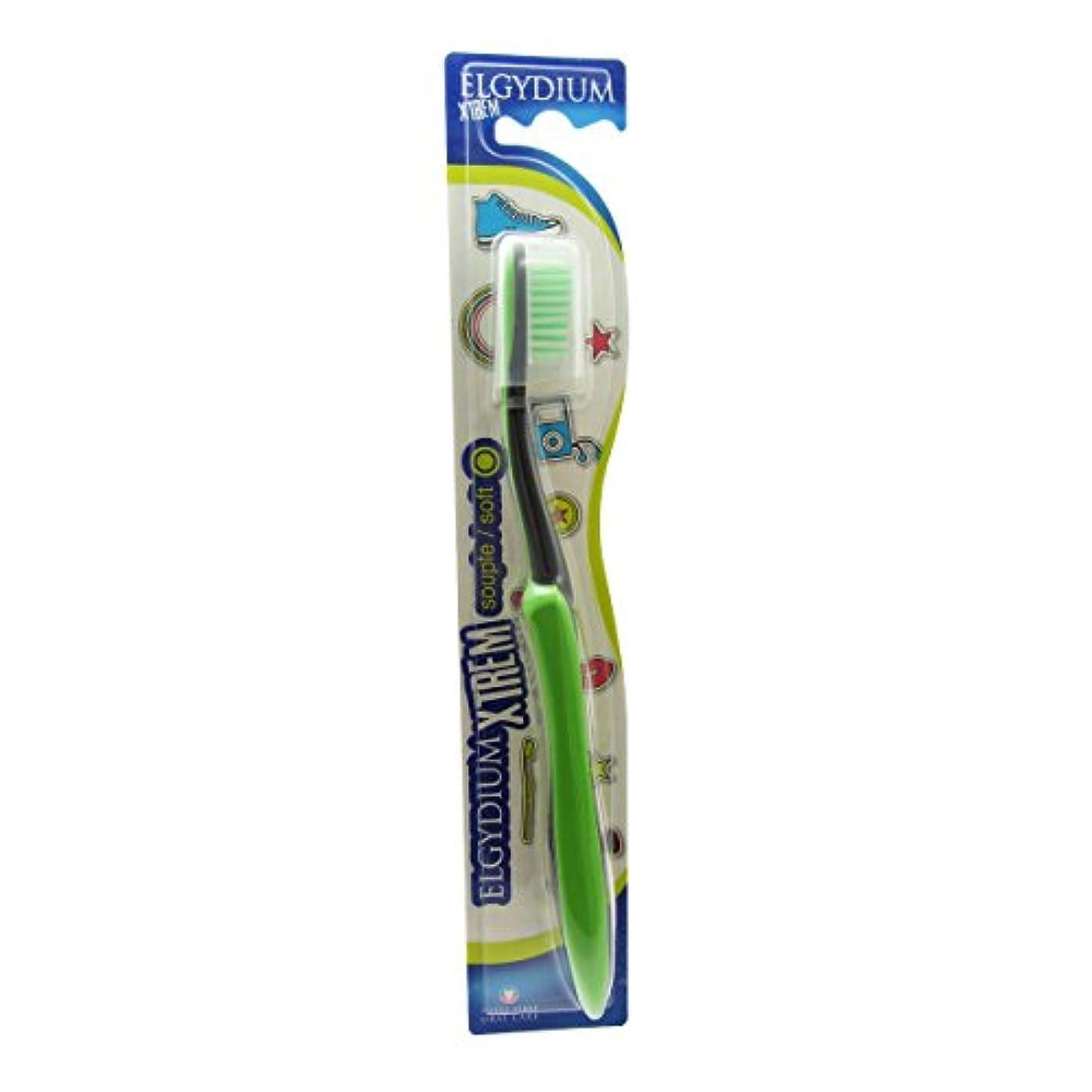 曇った成り立つ飛躍Elgydium Xtrem Toothbrush Soft Hardness [並行輸入品]