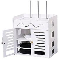Wifiルータ収納ボックス - ワイヤーソケットキャットセットトップボックスラック、セットラインボックス壁掛け(フリーパンチング)