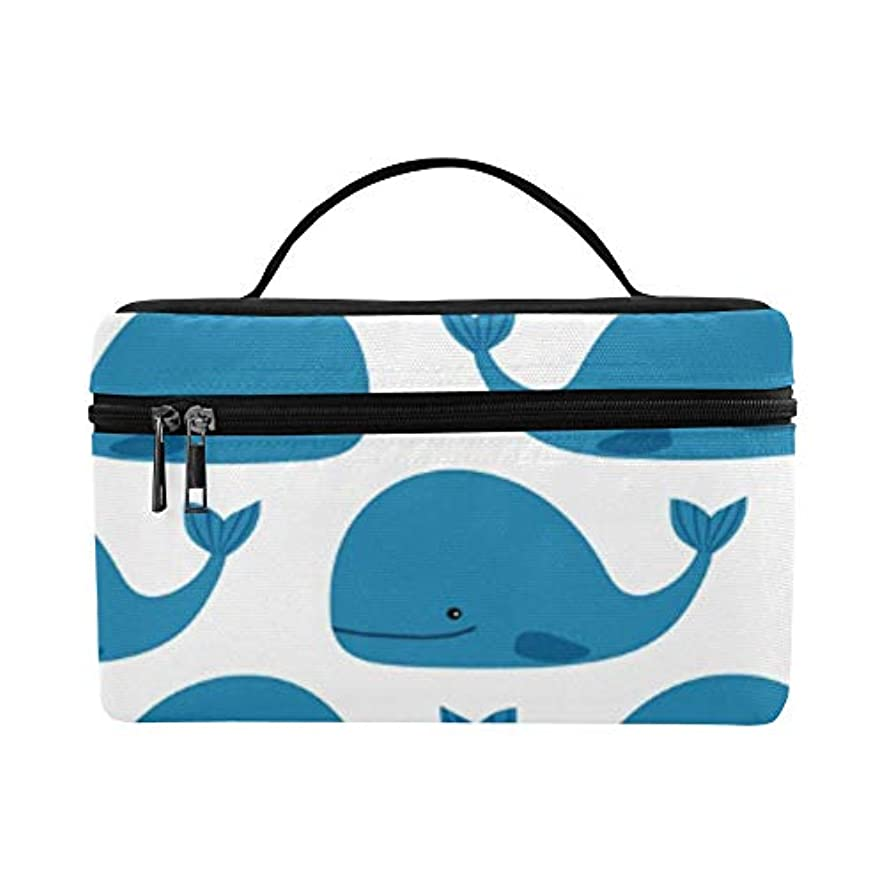 吸い込む約設定墓HYLVE メイクボックス 海底的动物鲸 コスメ収納 化粧品収納ケース 大容量 収納ボックス 化粧品入れ 化粧バッグ 旅行用 メイクブラシバッグ 化粧箱 持ち運び便利 プロ用