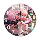 ZENMEBAN 掛け時計 スプラトゥーン2 柄 かわいい 連続秒針 シンプル 飾り 薄型 エコ型 軽量 簡約 部屋 カフェ 書斎 雰囲気 個性的 部屋飾り 円型 壁掛け 置き時計 贈り物 ギフト 時計