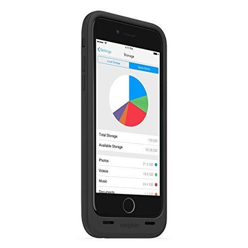 日本正規代理店品・保証付mophie space pack for iPhone 6 64GB (ストレージ内蔵バッテリーケース) ブラック MOP-PH-000101