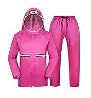 ポータブルレインコートレインギア オートバイ電気自動車のレインコートの雨のパンツは、男性と女性の分割防水服は再利用することができます 屋外ウォーキング用サイクリング用 (サイズ さいず : L l)