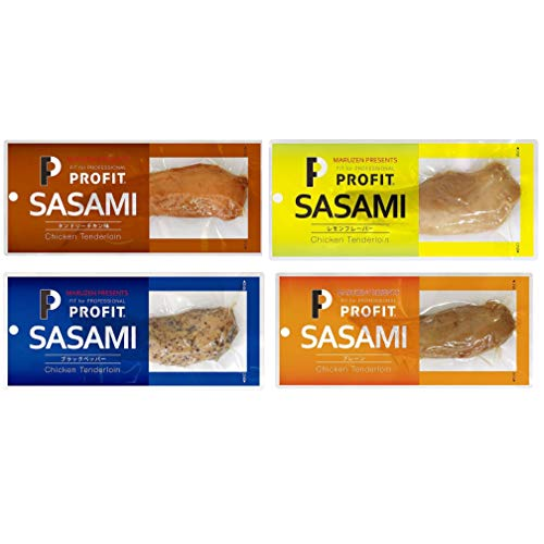 丸善 プロフィット ささみ PROFIT SASAMI 味付け ささみ 12袋セット (12袋(ブラックペッパー6袋/タンドリーチキン6袋))