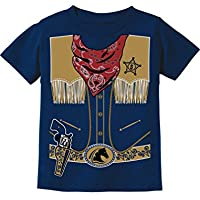 Tstars - Cowboy Halloween Easy Costume Outfit Toddler Kids T-Shirt
