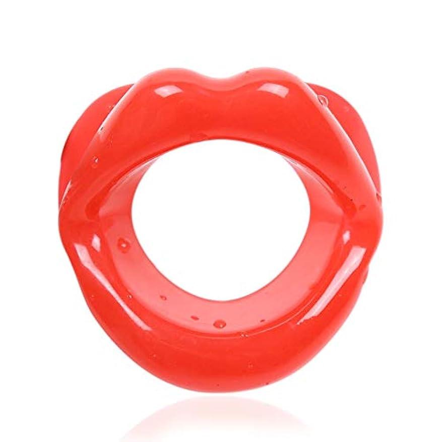 とげのど含むUniSign 表情筋トレーニング器 小顔マウスピース 口枷 小 小顔サポート 美顔器 ローラー フェイシャルリフト フェイススリマー フェラチオ道具 携帯便利 機能性 男女兼用(赤)