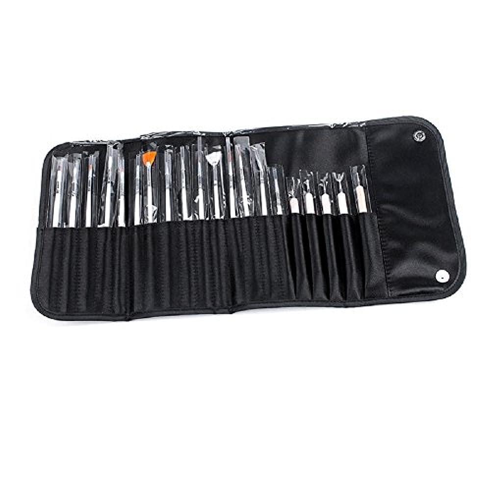 同等の慣習万歳Vinmax ネイルアートブラシ ドットペン セット 20本 ホワイト 専用ケース付き