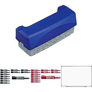 コクヨ ホワイトボードセット 軽量ホワイトボード・ホワイトボード用イレーザー・ボードマーカー黒/赤各12本