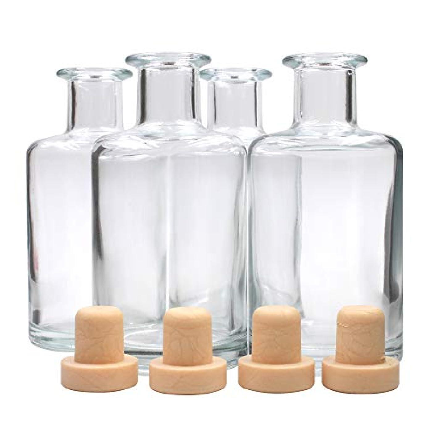 パケットローン無謀Frandy House リードディフューザー用 ガラスボトル 瓶 240ML #6813
