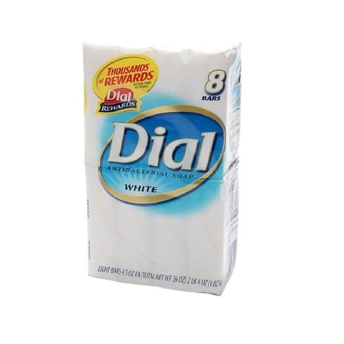 分岐する段階咳Dial 抗菌ホワイトデオドラントソープ、4つのオズバー、8 Eaは