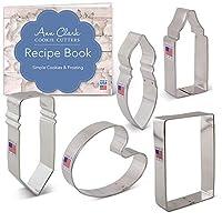 Ann Clark アート/アーティストクッキーカッターセット レシピブックレット付き 5点 鉛筆 クレヨン/接着剤 ペイントブラシ ペイントパレット用紙