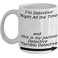 ブルックリンナイン - 恐ろしい探偵の格言 - コーヒーマグ、ティーカップ、面白い、引用句、彼や彼女、女性、母、父の日、姉妹、兄弟、親への贈り物のアイデア