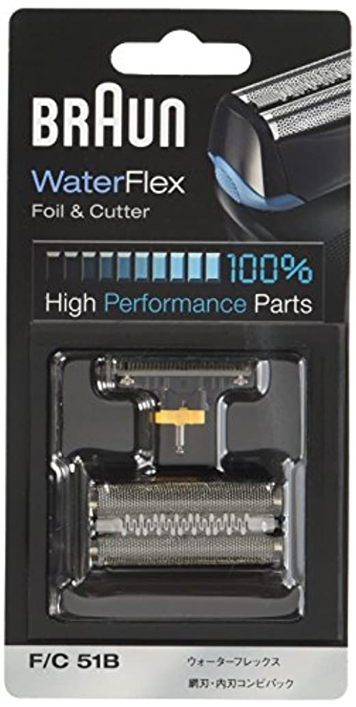 踏み台音スクラッチブラウン シェーバー替刃 Water Flex用 ブラック F/C51B【正規品】