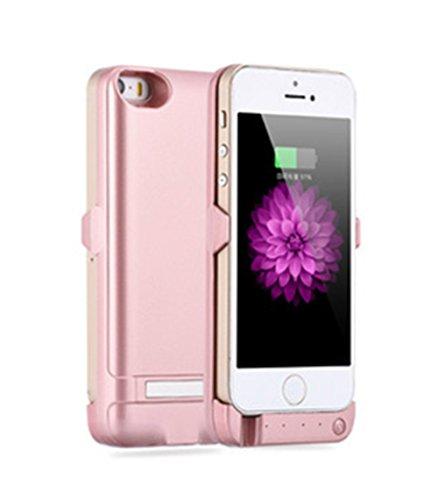 iPhone5/5s用 バッテリーケース モバイルバッテリー バッテリー内蔵ケース 一体型 充電ケース 大容量4200mAh ピンク