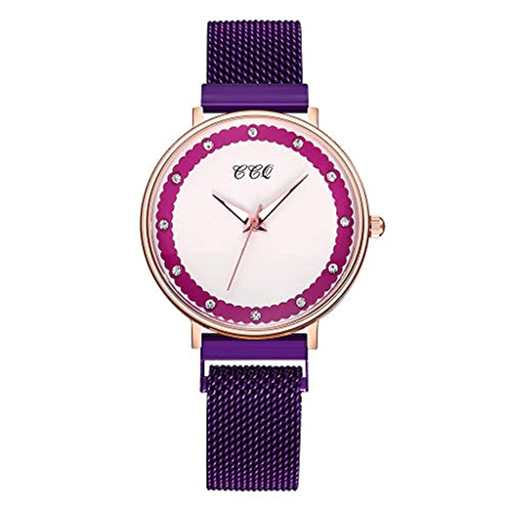 聖人個人的にどれか腕時計ファッションシンプルダイヤモンドダイヤルレザーベルトレディースクォーツ時計ギフト超薄型 防水 アナログクオーツ腕時計 スポーツ腕時計 ビジネス 電子 腕時計スポーツウォッチ 電子